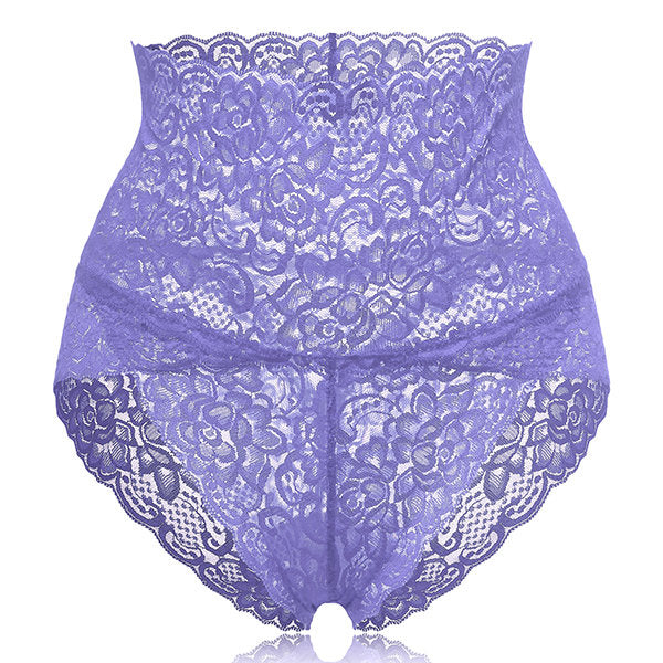 High Waisted Lace Cotton Panty