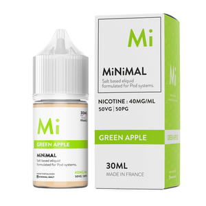nicotine salt minimal the fuu green apple 30ml 40mg