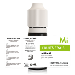 sels de nicotine minimal the fuu fruits frais 10ml 0mg