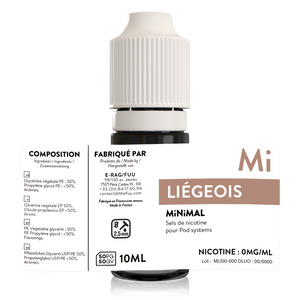 sels de nicotine liegeois minimal the fuu 10ml 0mg