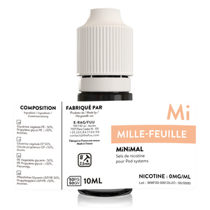 sels de nicotine minimal the fuu mille feuilles 10ml 0mg
