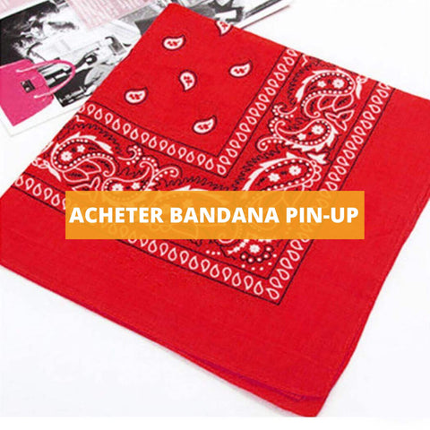 acheter bandana pin-up rouge