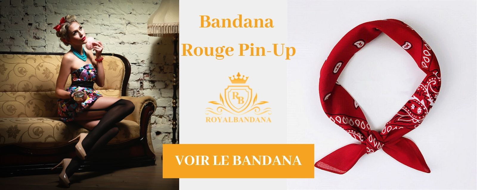 voir bandana rouge pin-up royalbandana