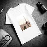 t-shirt paris blanc royalbandana