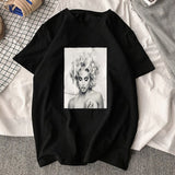 T-shirt Madonna Pin-up noir RoyalBandana