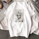 T-shirt Madonna Pin-up blanc RoyalBandana