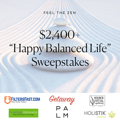 Win $2,400+ in Prizes by Entering the Happy Balanced Life Sweepstakes