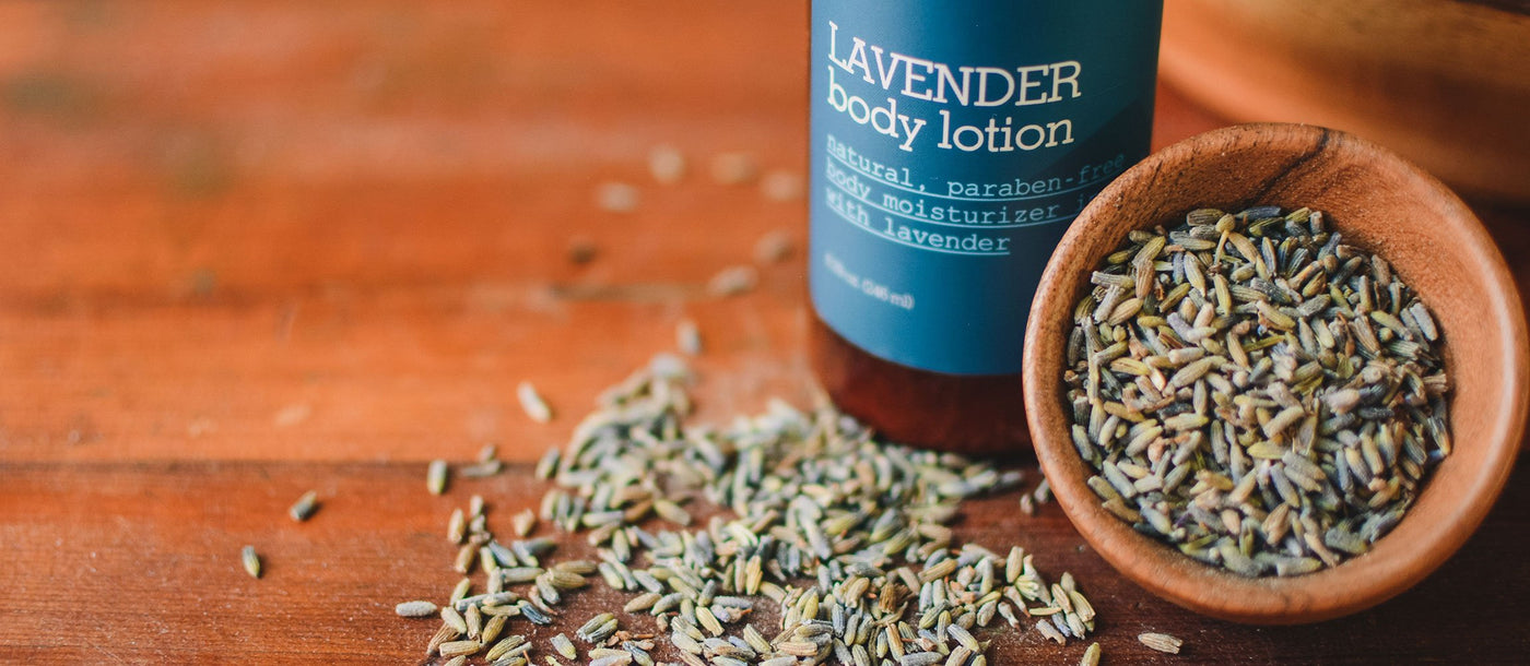 Skin Care, Body Care, and Aromatherapy Products Scented with Lavender