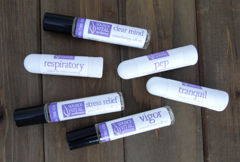 100% pure & natural aromatherapy on the go products for stress relief, tranquility & energy