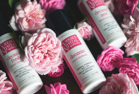 Deozein Natural Deodorant Supporting The Rose