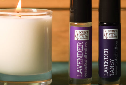 Essential Oil Roll-Ons to Relax and Calm with Lavender and Lavender Tansy blends