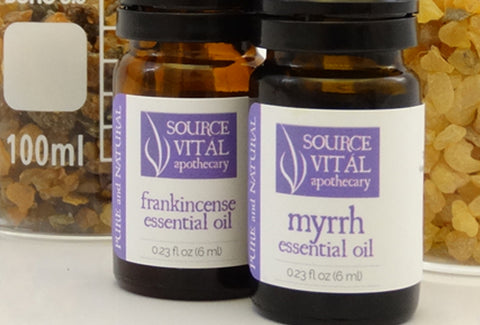 Frankincense and Myrrh Essential Oils by Source Vital Apothecary