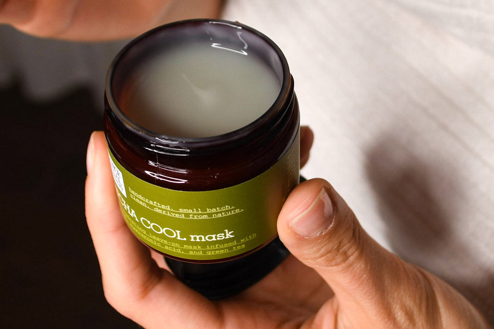 Matcha Cool Mask to soothe skin irritations