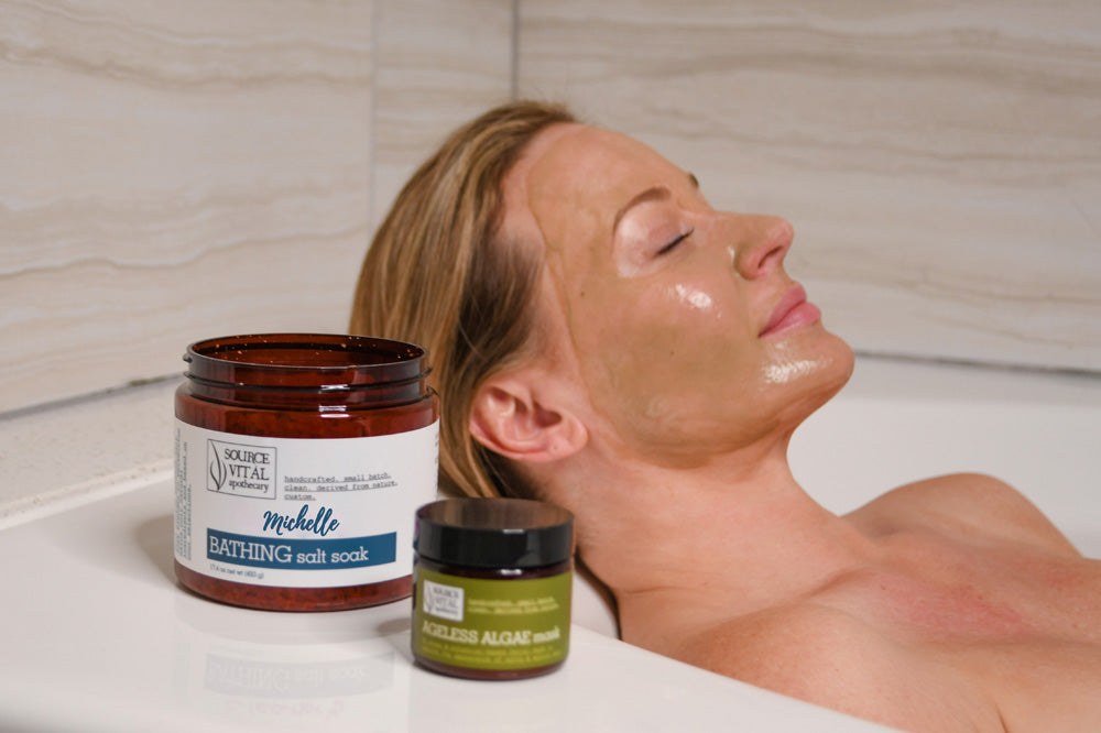 spa from home with natural aromatherapy products for the bath and body