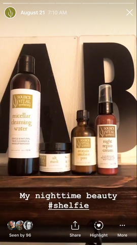 Nightly Beauty Shelfie from Hello Natural Maven