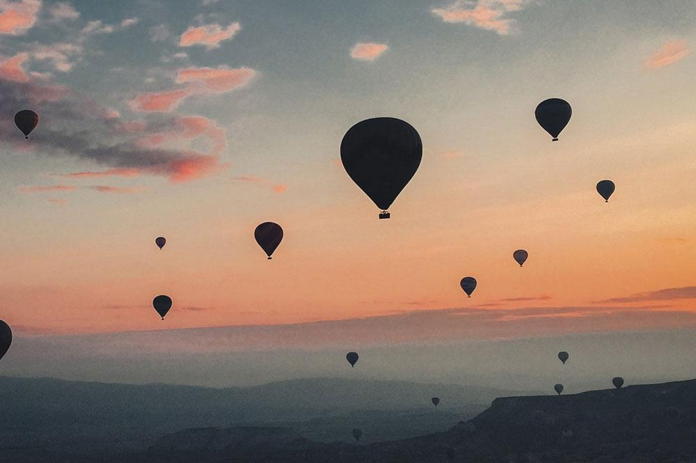 Hot Air Balloons at Sunset - summer sunset essential oil blend by source vital apothecary