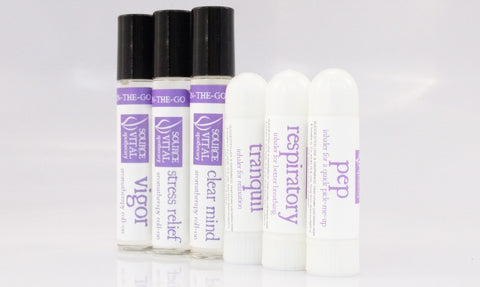 Aromatherapy On-the-Go Products made with 100% Pure Essential Oils