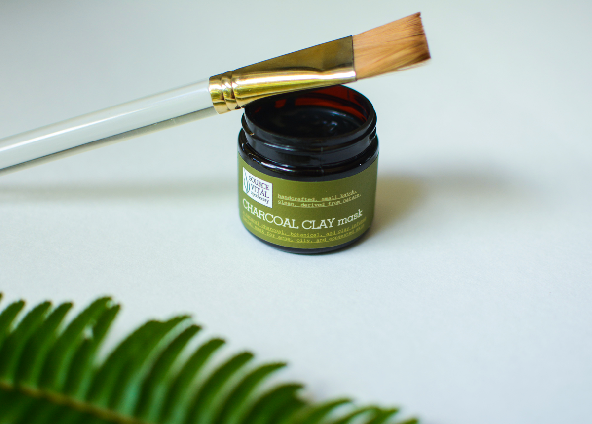 charcoal clay mask by source vital apothecary