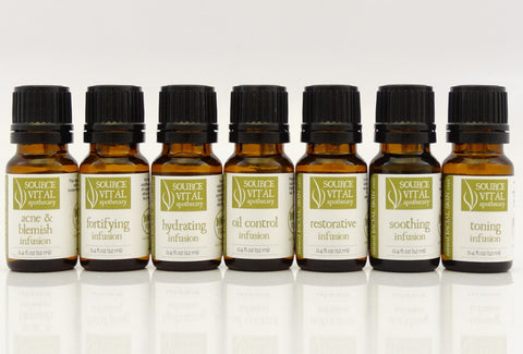 100% Pure & Natural Intensive Face Oil Infusions & Serums