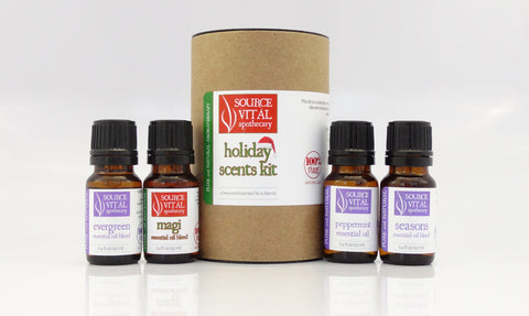 100% Natural & Fragrance-Free Holiday Scents Gift Set