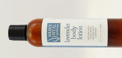 Natural Lavender Body Lotion from Source Vital Apothecary