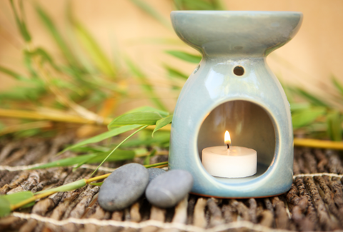 Tea light diffuser for essential oils & aromatherapy