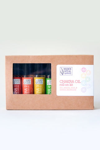 Chakra Oil Roll-on Kit, includes all 7 Chakra Essential Oil Blends