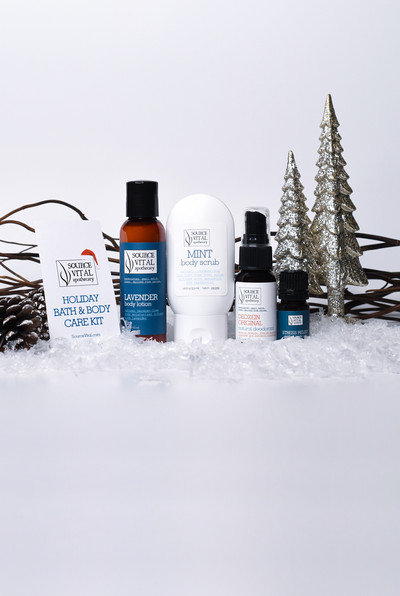 Holiday Bath & Body Gift Set by Source Vital