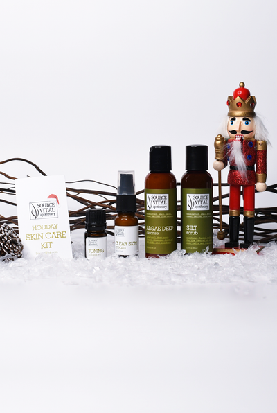 Holiday skin care gift set by source vital apothecary