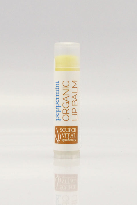 USDA Certified Organic Lip Balm in Peppermint by Source Vital Apothecary, 100% Natural