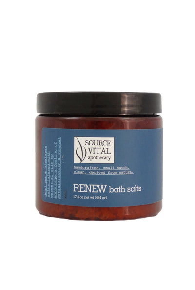 Natural and Pure Renew Bath Salts for Detoxification & Weight Control Programs