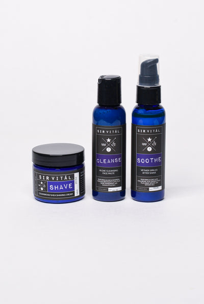 Sir Vital Gift Set Trio with CLEANSE, SHAVE, and SOOTHE