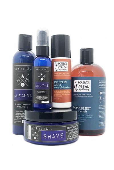 Sir Vital's Skin, Shower, Shave Kit for The Special Father, Husband, or Boyfriend in Your Life