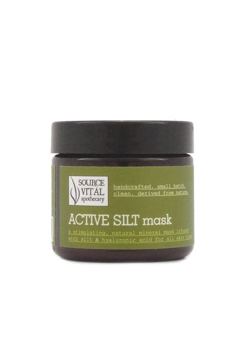 Active Silt Mask, a Natural, Nourishing Mask with Silt, Hyaluronic Acid, Sea Buckthorn, Prickly Pear, and Essential Oils