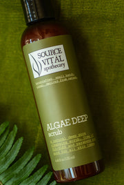 Algae Deep Scrub - Natural Deep Pore Facial Cleanser and Exfoliant with Algae, Volcanic Exfoliants, Clay and Hemp