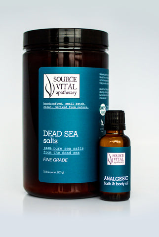 Dead Sea Salts + Natural Bath Oil Duo Set