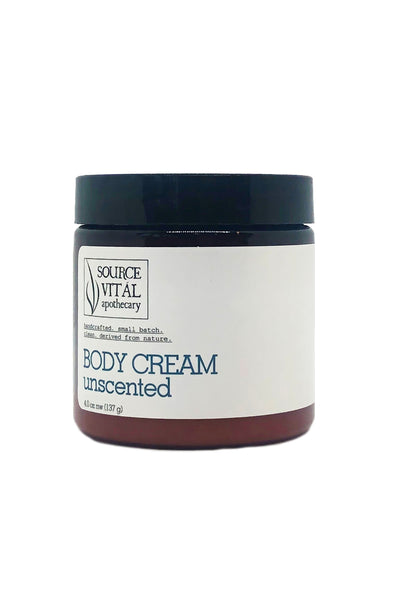 Unscented, No Fragrance or Essential Oil Body Cream Moisturizer