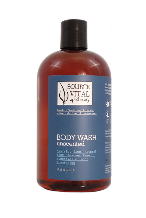 Natural Body Wash, Unscented without Fragrance or Essential Oils
