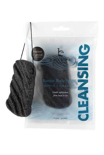 Konjac Charcoal Body Sponge by Beauty by Earth