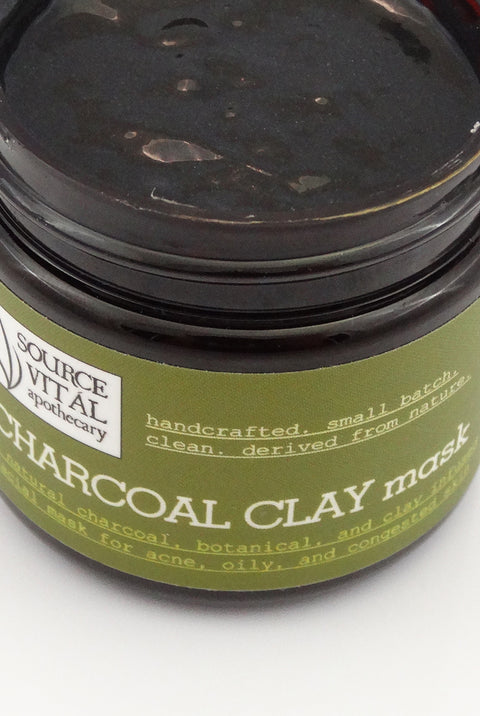 A natural, clean face mask infused with Clay & Charcoal