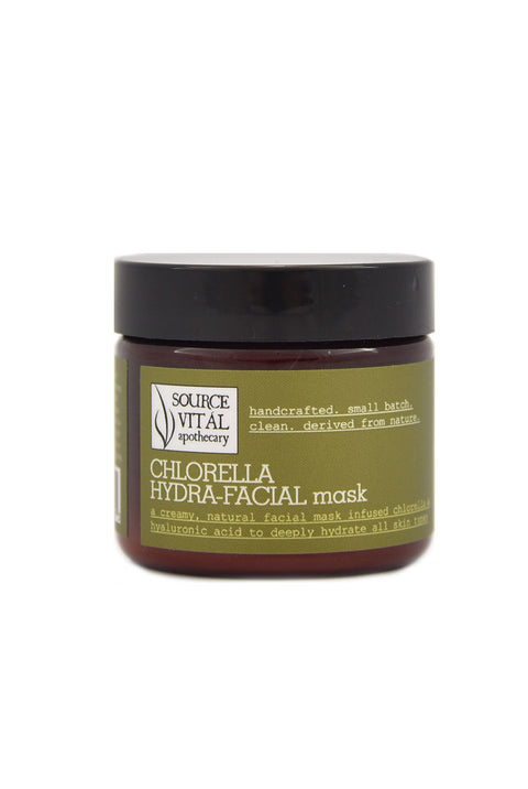 Natural, Clean Chlorella Hydra-Facial Mask - Unscented, Customizable, and For All Skin Types