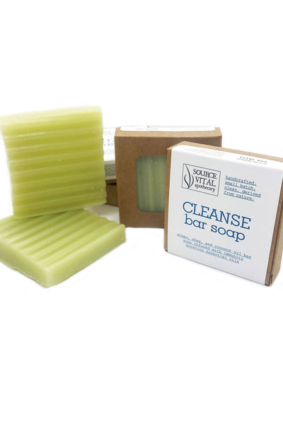 Cleanse Bar Soap for Body and Hands. Contains Shea, Argan, Coconut Oil, and an Immunity Boosting Essential Oil Blend
