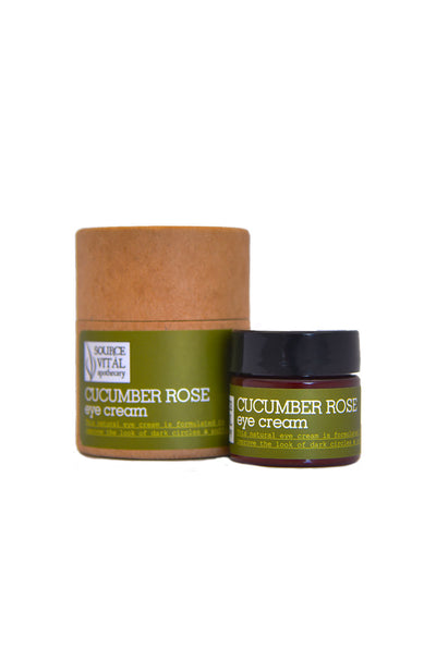 Cucumber Rose Eye Cream for Puffiness, Dark Circles, Tired/Mature Skin