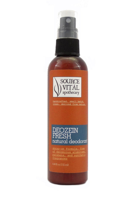 Deozein Natural Deodorant - Fresh Spray Formula - Dangerous Aluminum Free