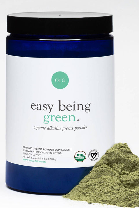 "Organic Greens Powder - ""Easy Being Green"""