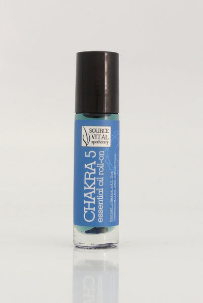 essential Oil Rollerball to Support Chakra 5