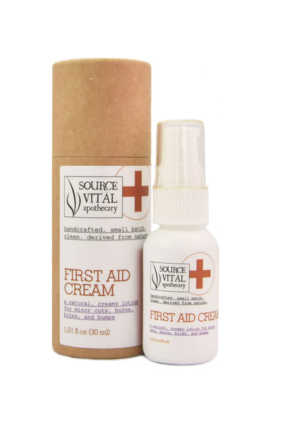 Natural First Aid Cream for Minor Burns, Rough Elbows, Bumps, Bruises