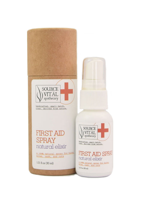 Travel Size First Aid Spray, Natural for Bites, Bruises, Cuts and More