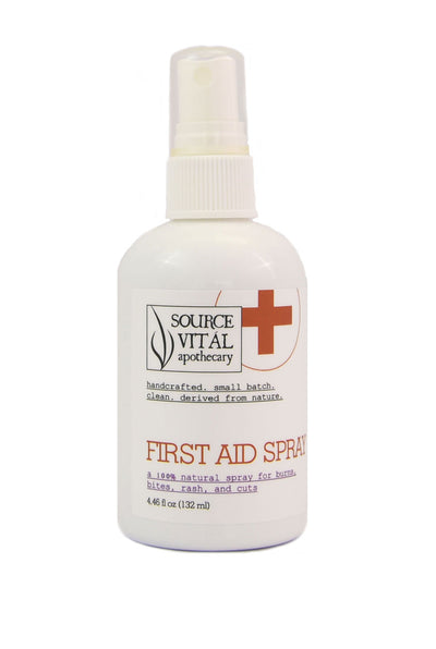 First Aid Spray, Natural, Soothing Spray for Cuts, Scrapes, Bruises and More.