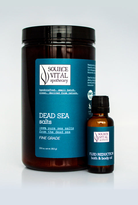 Bath Salts + Bath & Body Oil Duo for Fluid Reduction and Bloating